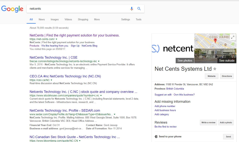 CEO.CA #nc NetCents Technology Inc (NC.CN)
